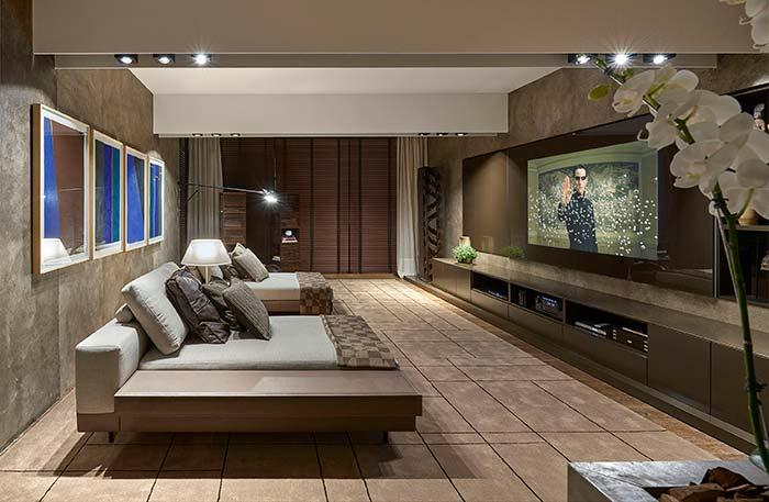 Cinema em casa confortável