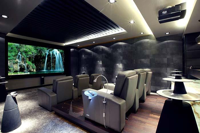 Cinema em casa futurista
