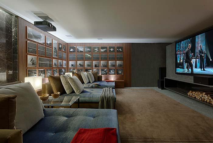 Cinema em casa grandioso