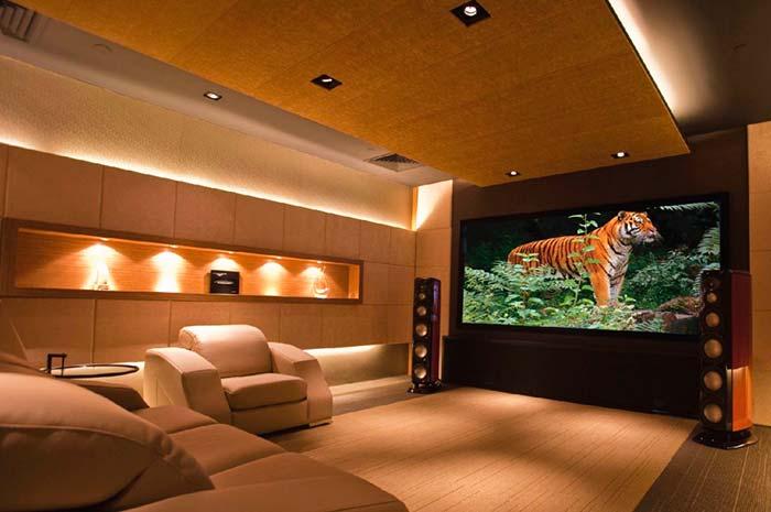 Cinema em casa majestoso