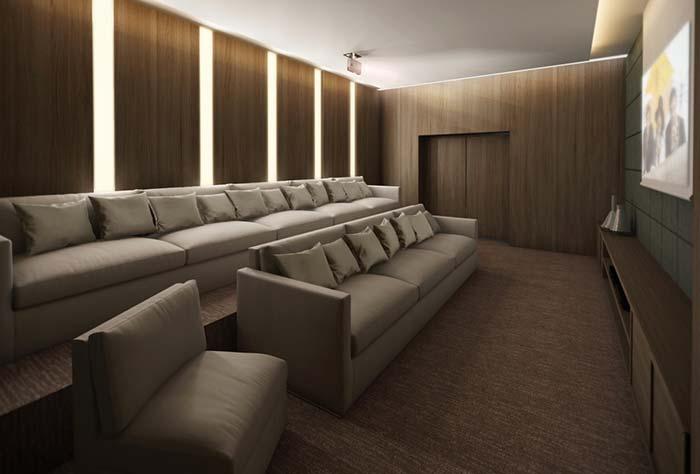 Sala simples mas refinada