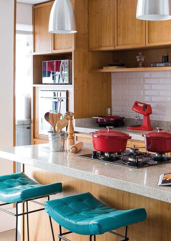 Cozinha gourmet nos detalhes
