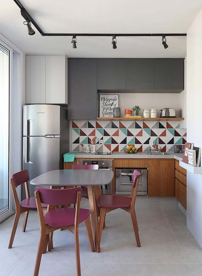 Cozinha em L charmosa