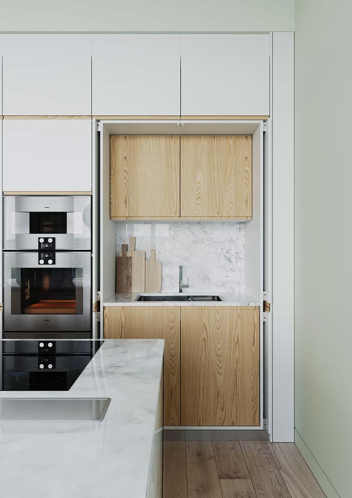 Cozinha planejada com pia separada