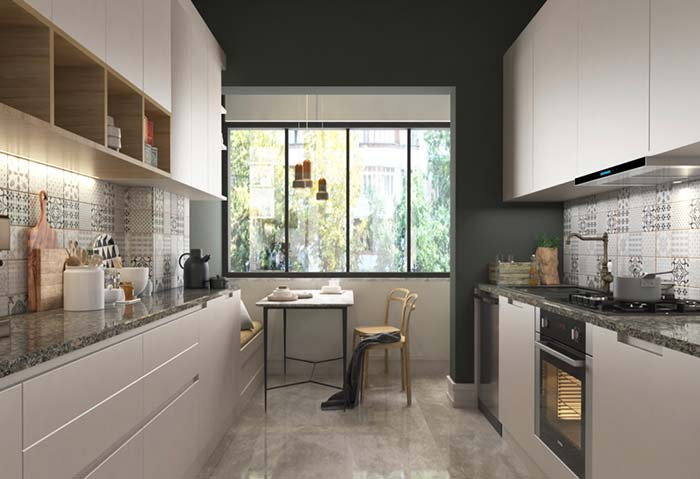 Cozinha planejada corredor