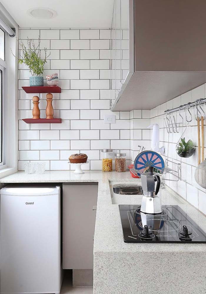 Cozinha pequena em L