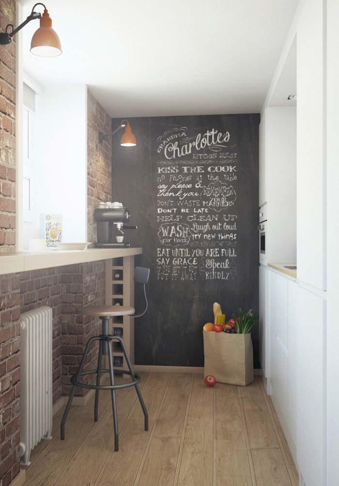 Cozinha pequena rústica