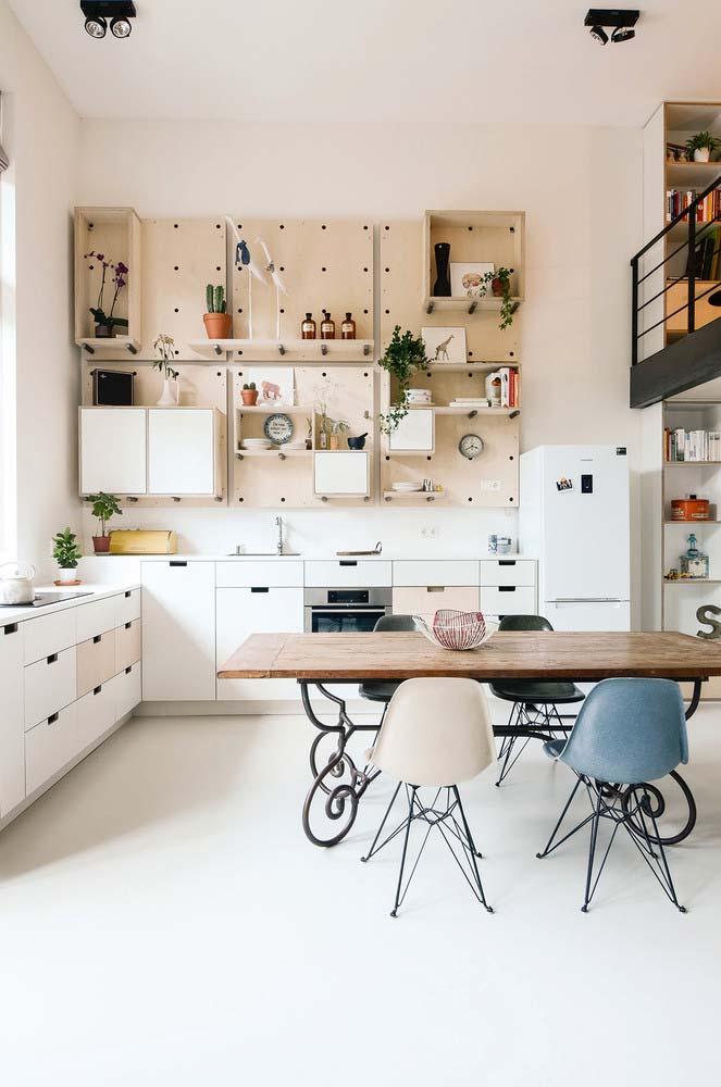 Cozinha branca simples