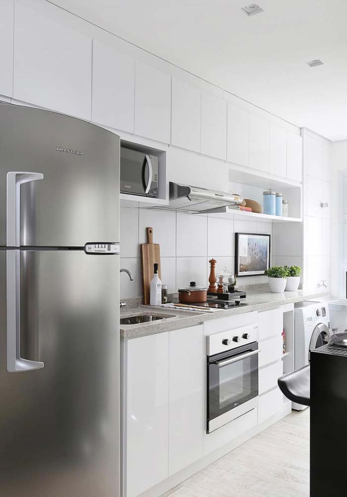 Cozinha simples em linha