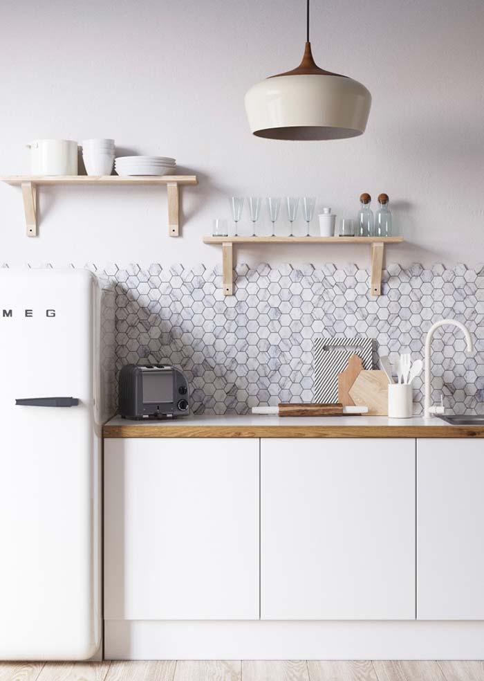 Cozinha retrô simples