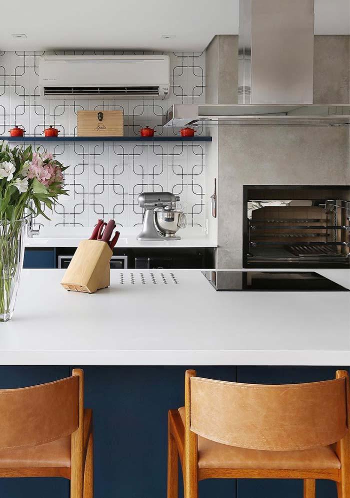 Cozinha gourmet mesclando estilos