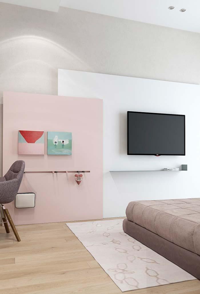 Painel rosa que chama a atenção