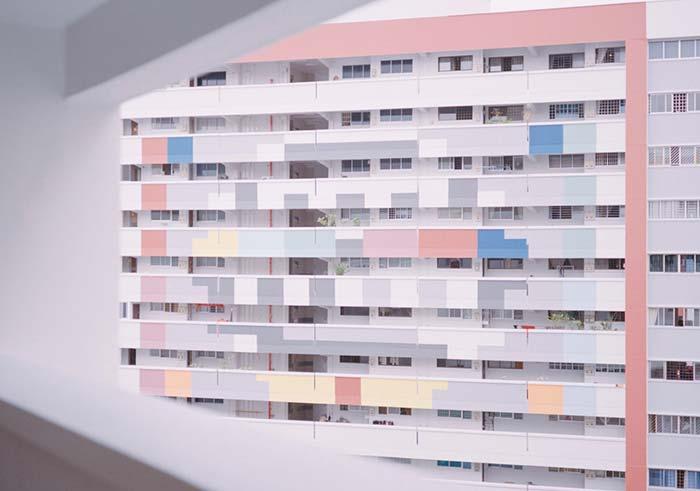 Candy colors sendo utilizadas para toques em fachadas de prédios.