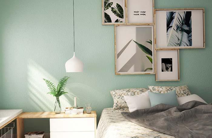 O verde menta de novo na pintura de parede em quartos