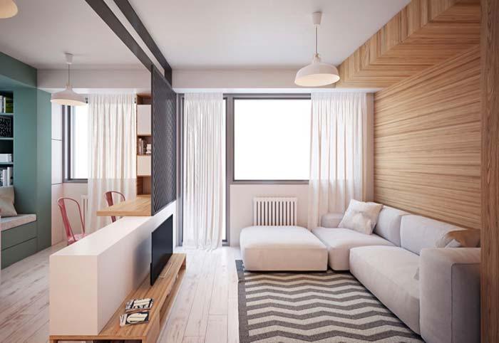 Decoração de sala pequena para relaxar