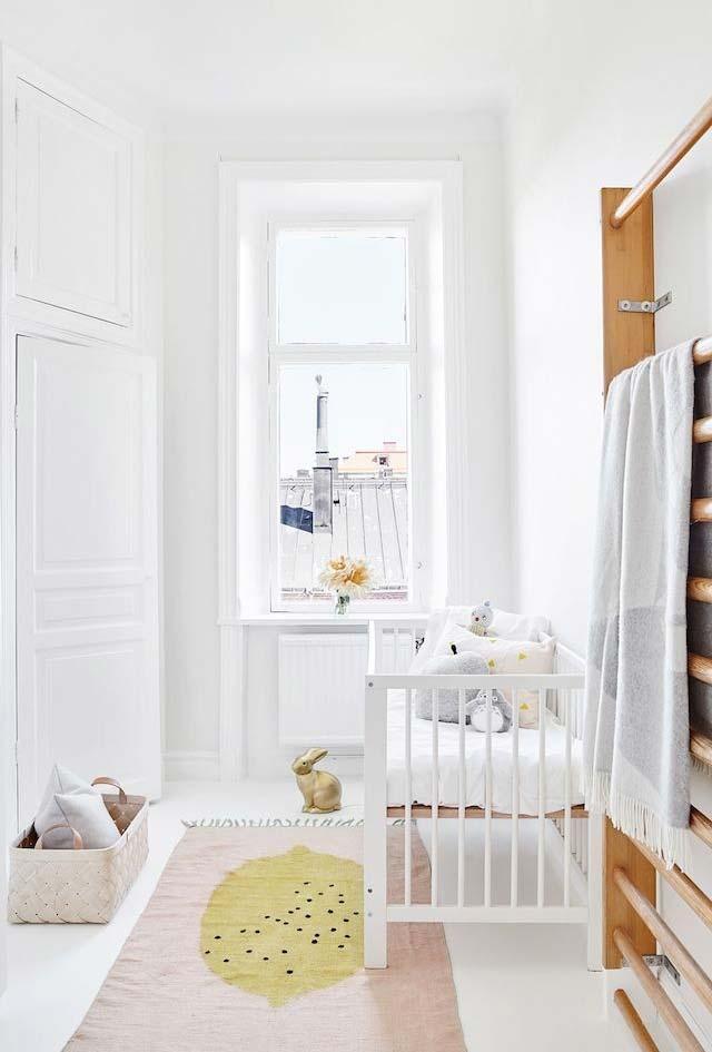 Quarto de bebê simples e contemporâneo
