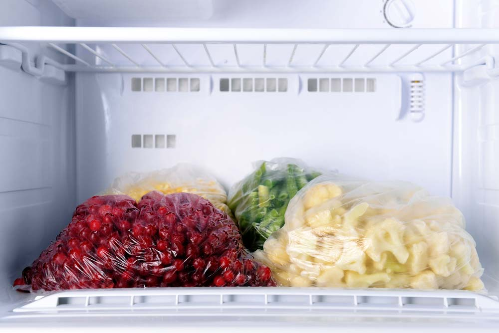 Alimentos no freezer