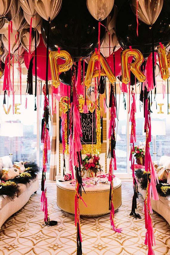 Decoração de festa de 15 anos: preto para trazer glamour na festa de quinze anos