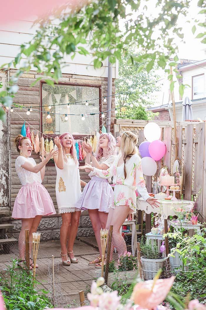 Decoração de festa de 15 anosrústica e romântica