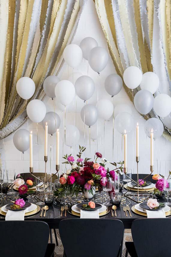 Decoração de debutante com candelabros