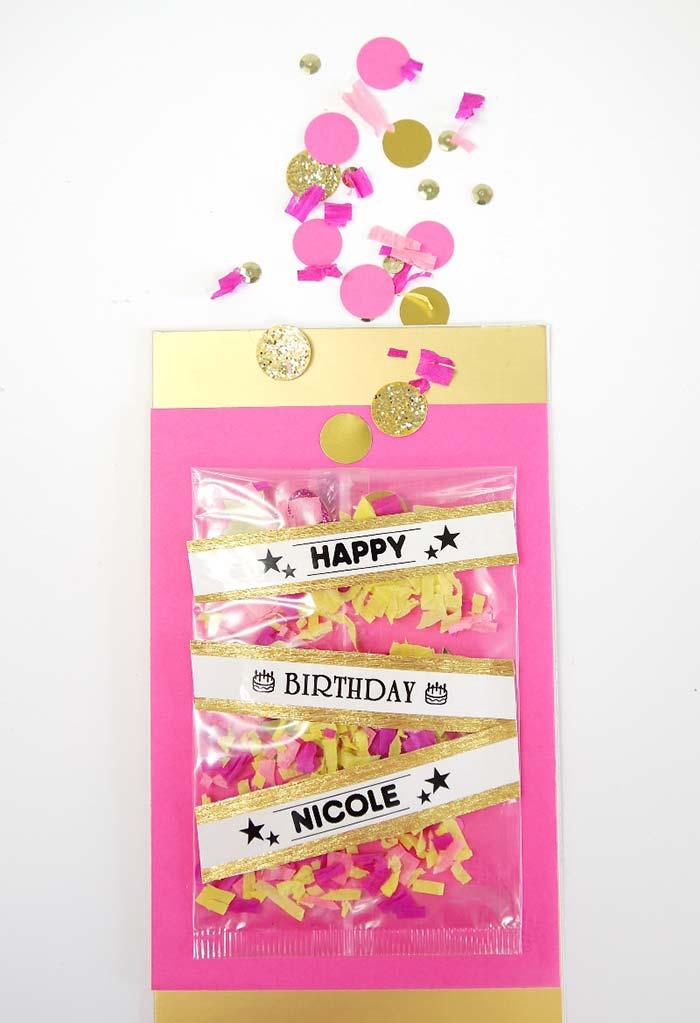 Decoração de festa de 15 anos: confetes para distribuir aos convidados