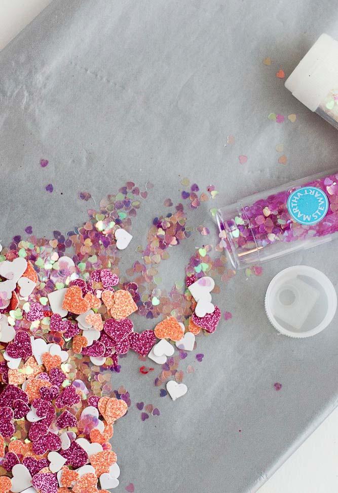Pote de confetes de decoração