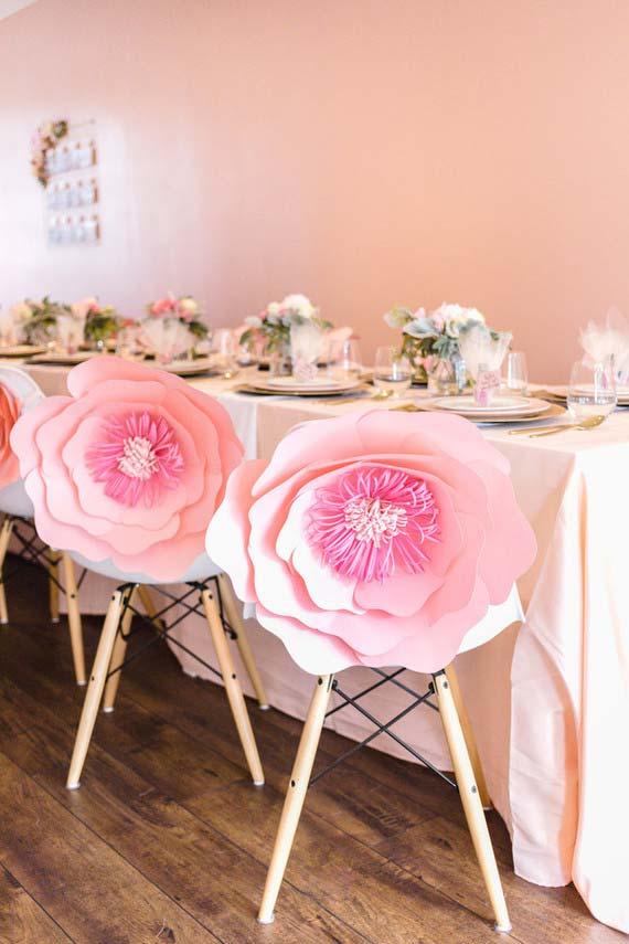 Assento de flores para festa de 15 anons