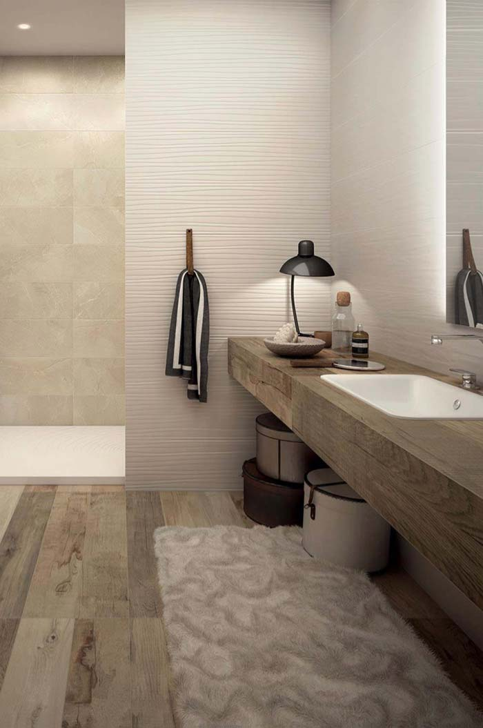 Porcelanato madeira para banheiro elegante