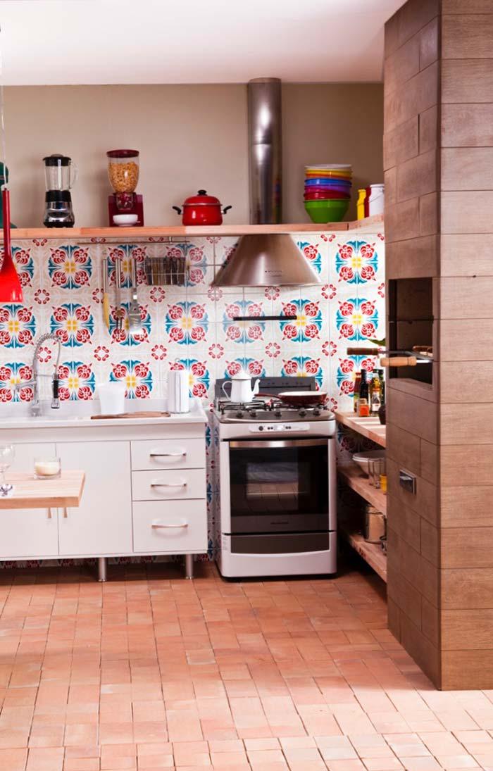 Porcelanato madeira para cozinha externa