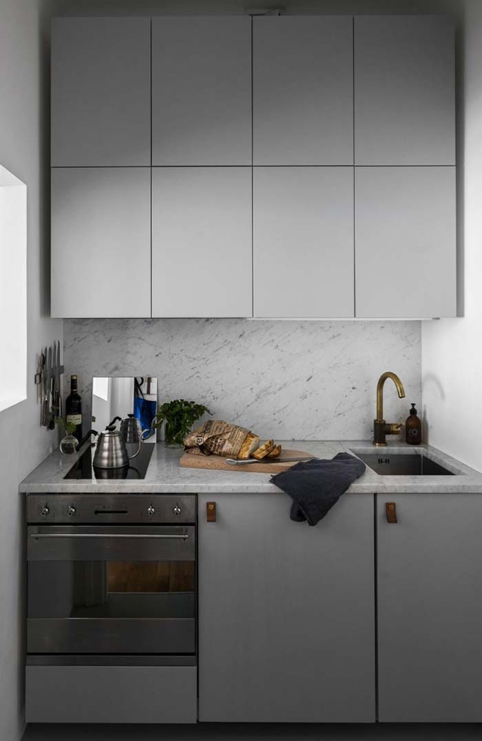 Pia e fogão com tamanho personalizado