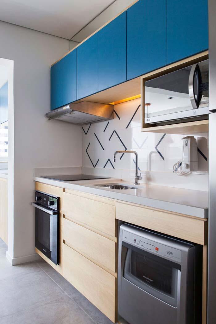 Cozinha planejada com visual moderno