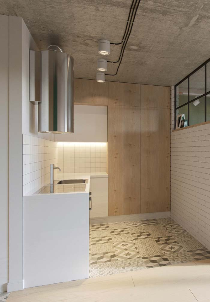 Cozinha planejada com armários grandes