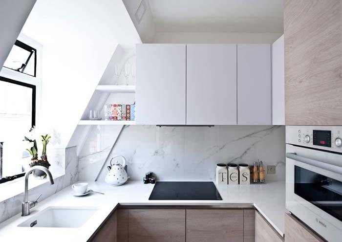 Cozinha planejada com triângulo perfeito