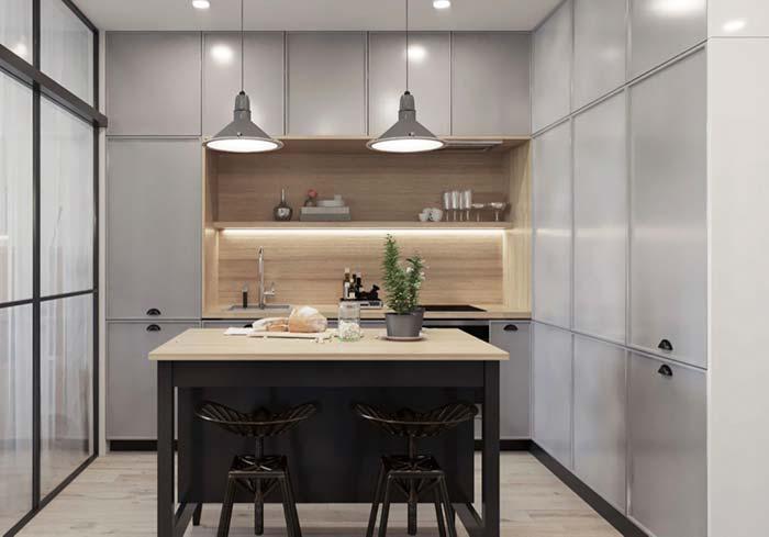 Cozinha moderna com toque retrô