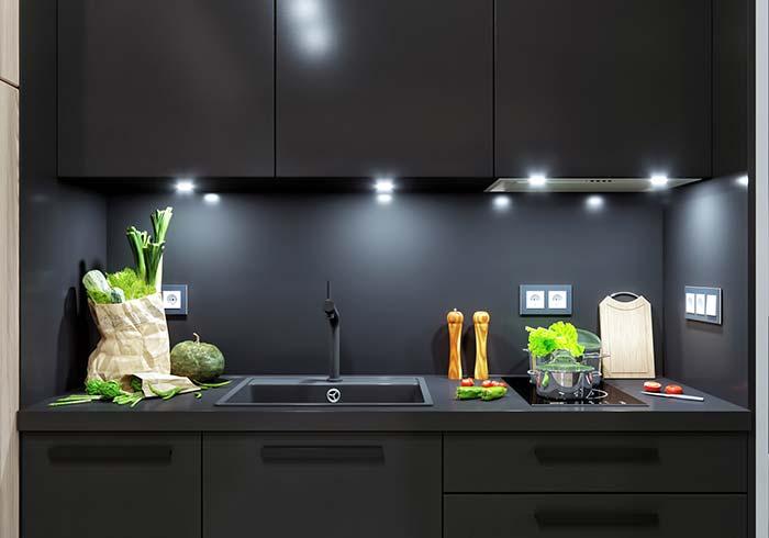 Luzes embutidas para um toque de sofisticação