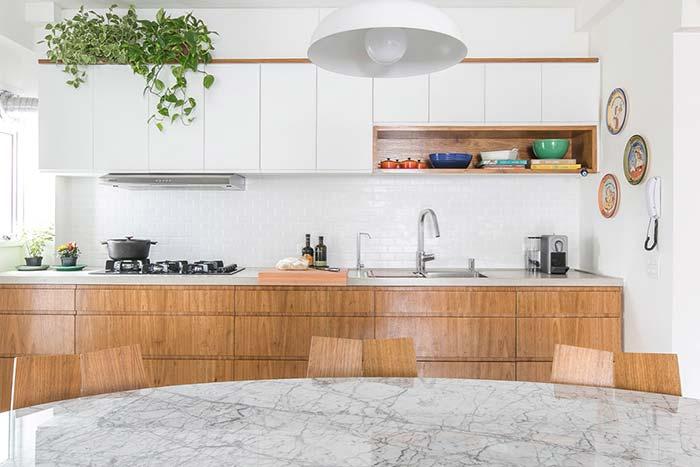 Vasos de Columéia na cozinha