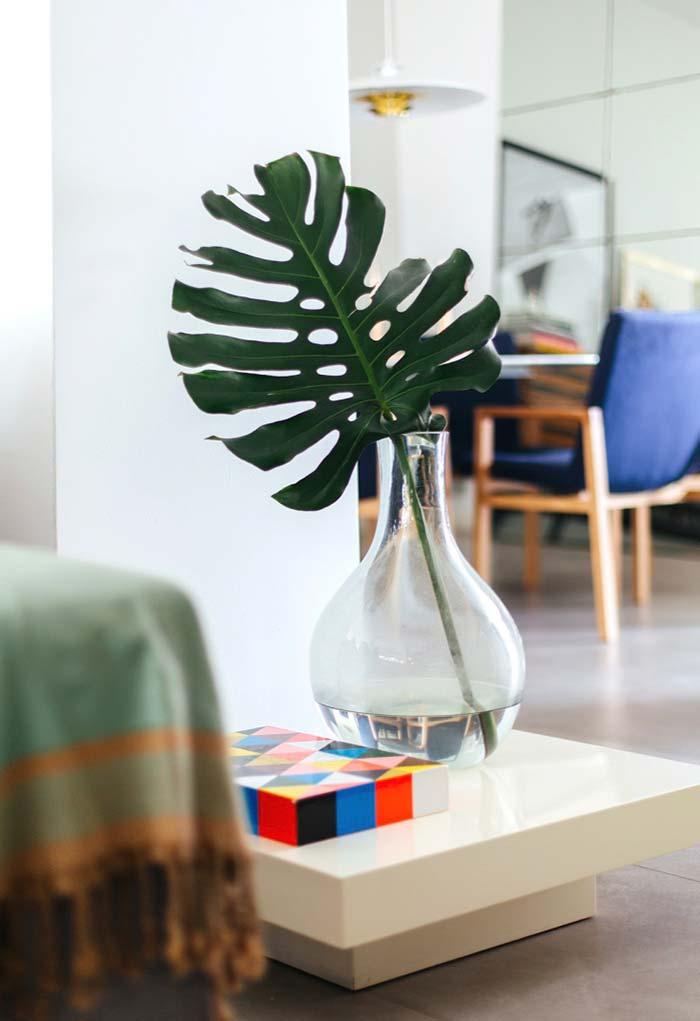 Uma folhinha da planta para dar um toque na decoração