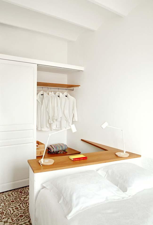 Ideia super criativa para um espaço 2 em 1 no quarto pequeno