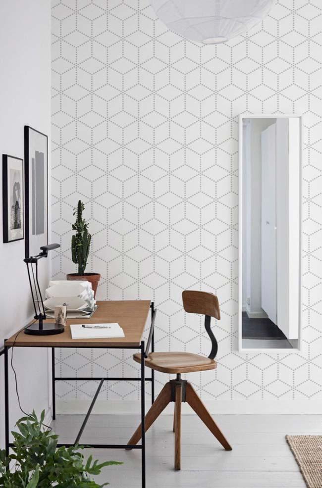 Papel de parede com estampa suave