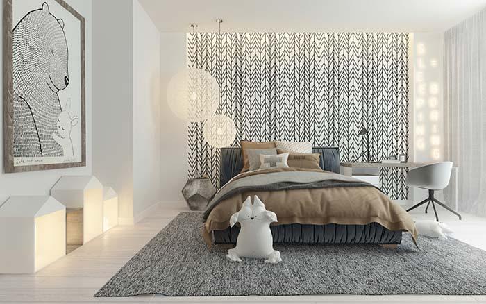 Revestimento de parede para quarto de casal