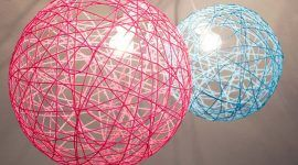 Luminária de barbante: 65 ideias e como fazer passo-a-passo