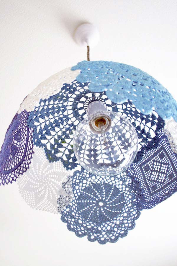 Para quem produz em crochê: decore com os seus próprios trabalhos com padrões e desenhos distintos.