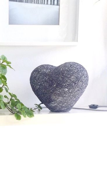 Luminária interessante com formato de coração