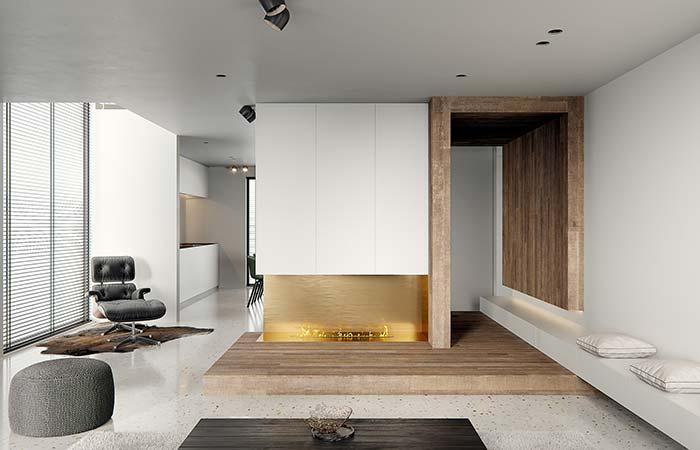 Forro de madeira para o corredor