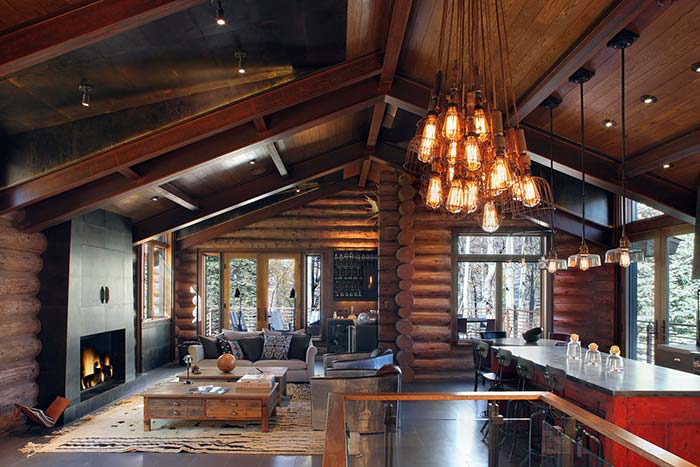 Forro de madeira para casa de campo