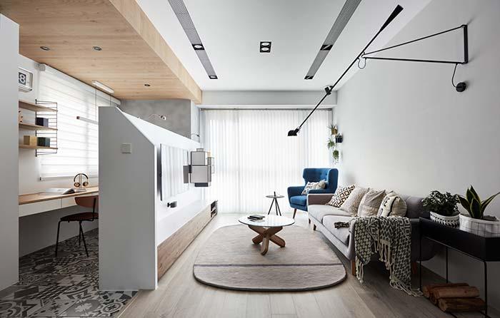 Forro de madeira para home office