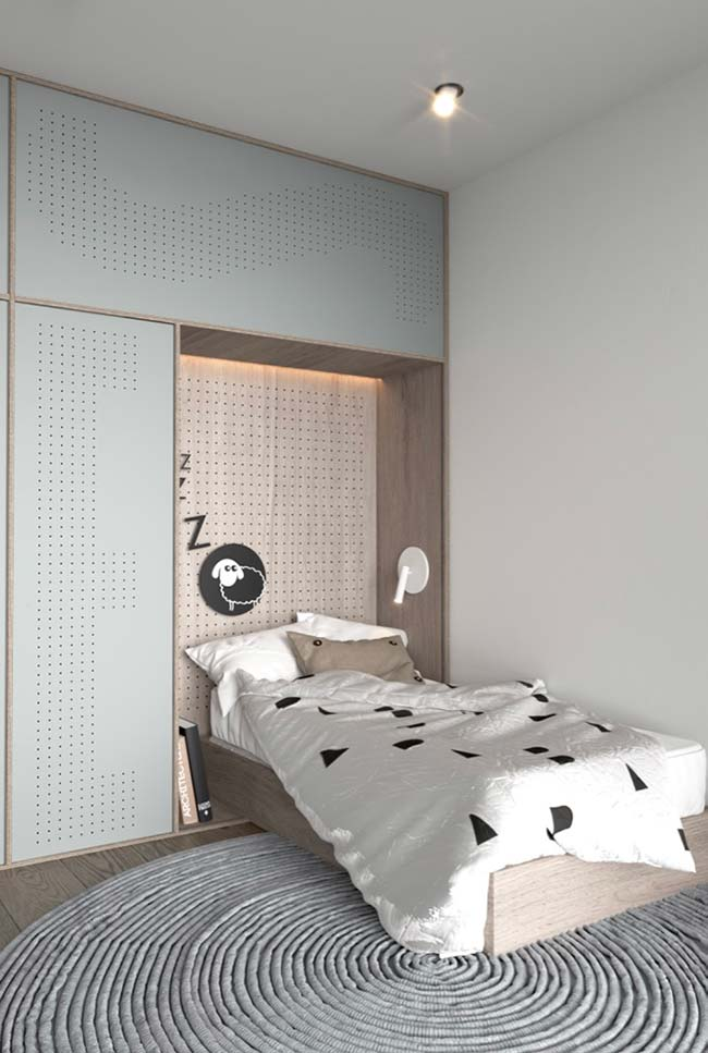 Preto e branco para deixar o quarto no bom e novo estilo Tumblr