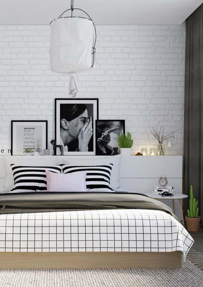 A cabeceira da cama envolve todos os elementos Tumblr
