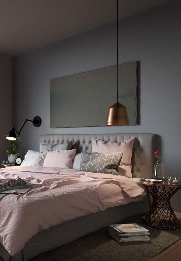 Para ele e para ela: quarto Tumblr rosa e cinza