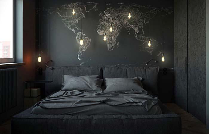 Se você gosta de viajar, cole o mapa mundi na parede do seu quarto